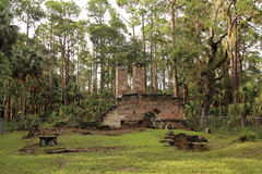 Dummett Plantation Ruins. Historic Dummett Plantation Ruins, a former Sugar and Rum Processing Factory in the State of Florida Stock Images