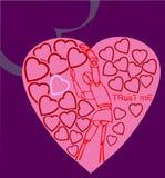 Dummie die naar liefde streeft metaphore. Stock Foto's