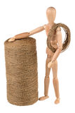 Dummie and the reel of string Royalty Free Stock Image