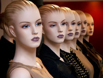 Dummies. Clones in fashion Stock Image