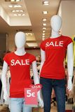 Dummies advertising summer clearance sale Stock Image