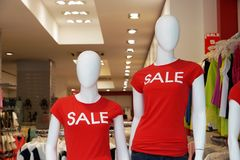 Dummies advertising summer clearance sale Royalty Free Stock Photography