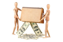 Dummies, book and dollars Royalty Free Stock Images
