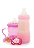 Dummies and bottles Royalty Free Stock Images