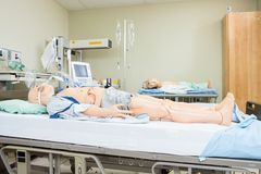 Dummies On Hospital Bed Royalty Free Stock Photography