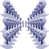 Dummies perspective Royalty Free Stock Images