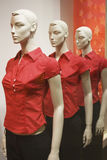 Dummies in red Stock Image
