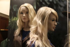 Dummies of young women. Dummies of young blonde women royalty free stock image
