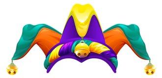 Dummköpfe bedecken mit Glocken mit einer Kappe Spaßvogelkappe 1 April Fools Day Lizenzfreies Stockfoto