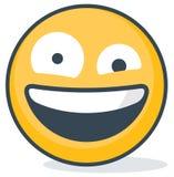 Dummkopf Emoticon Lokalisierter Emoticon lizenzfreie abbildung