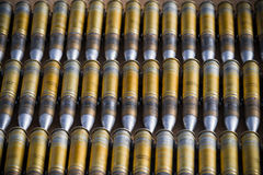Dummy ammunition for a combat helicopter Stock Image