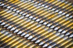Dummy ammunition for a combat helicopter Stock Images