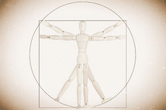 Dummy as Vitruvian man. Body Concept based on Leonardo da Vinci's classic Vitruvian man royalty free stock photo