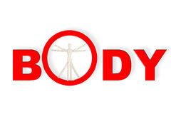 Dummy as Vitruvian man. Body Concept based on Leonardo da Vinci's classic Vitruvian man royalty free stock images