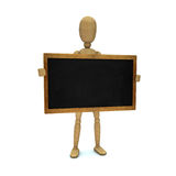 Dummy with blackboard Stock Images