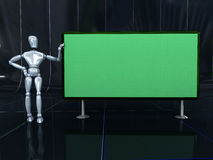 Dummy and board Royalty Free Stock Image