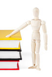 Dummy with the books Royalty Free Stock Image