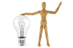 Dummy with Bulb Royalty Free Stock Photos