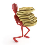 Dummy carrying coins Stock Photos