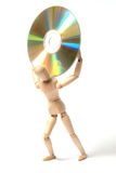 Dummy and cd-rom Royalty Free Stock Photography