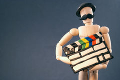 Dummy and cinema clap board. Royalty Free Stock Photos