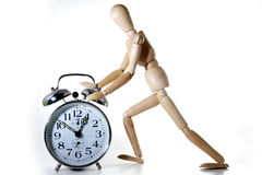 Dummy and clock Stock Photography