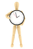 Dummy with Clock Royalty Free Stock Photos