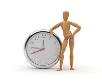 Dummy with clock Royalty Free Stock Photo