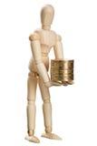 Dummy with coins Stock Photos