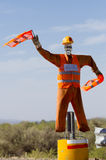 Dummy colorful traffic man in Argentina on ruta 40 Stock Images