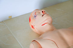 Dummy for CPR medical refresher  training to assist of physician Stock Photos
