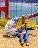 Dummy of Daniel Radcliffe for movie Swiss Army Man near Golden Gate bridge, Battery Spencer San Francisco Stock Photography