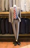 Dummy in a designer, classic suit Stock Photos