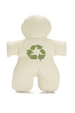 Dummy doll with recycle symbol Stock Image
