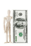 Dummy with dollars Royalty Free Stock Image