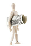 Dummy with dollars Stock Photo