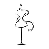 Dummy dress hand drawing Stock Image