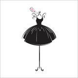 Dummy dress hand drawing illustration vector Stock Photography