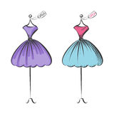 Dummy dress hand drawing illustration vector Royalty Free Stock Image