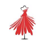 Dummy dress illustration vector Royalty Free Stock Photography