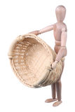 Dummy and empty basket Stock Images