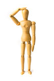 Dummy Figure Confused Stock Images