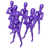 Dummy figure doll business team. Illustration Royalty Free Stock Images