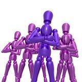 Dummy figure doll business team. Illustration Stock Photography