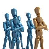 Dummy figure doll business team. Illustration Stock Images