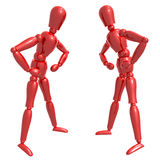 Dummy figure doll confronting pose Royalty Free Stock Image