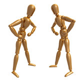 Dummy figure doll confronting pose Royalty Free Stock Photos