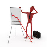Dummy and financial chart Stock Photography
