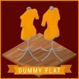 Dummy flat isometric vector icon Stock Image