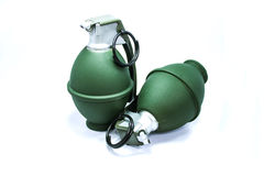 Dummy Grenade. Pair of fake grenade for airsoft game Stock Images